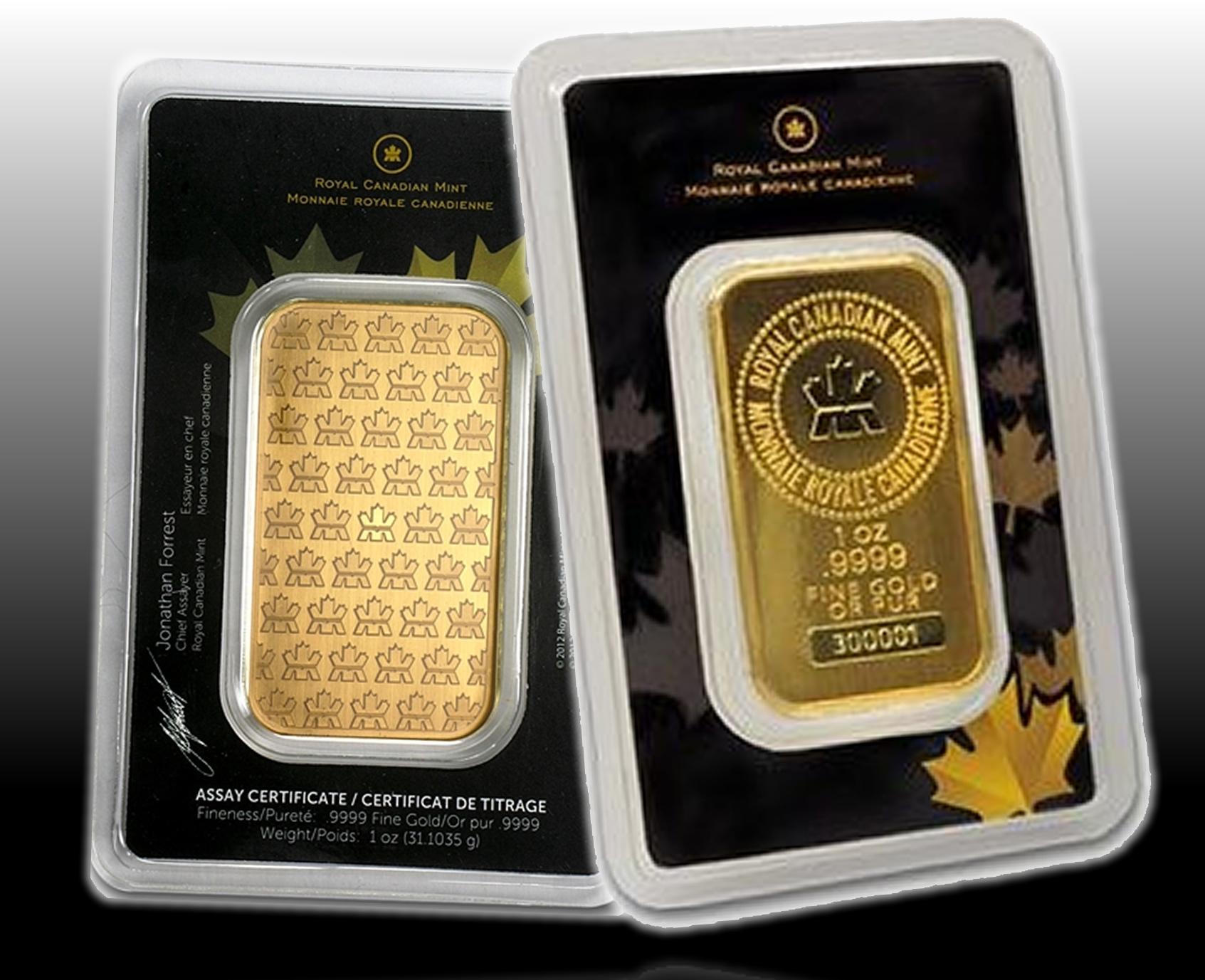 1 Oz Pure Gold Bar Monnaie Collection Royale