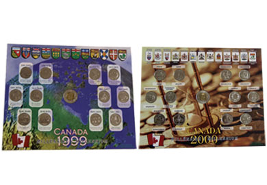 Coin for the 1999 and 2000 millennium where 300,000 collector's sets were distributed worldwide